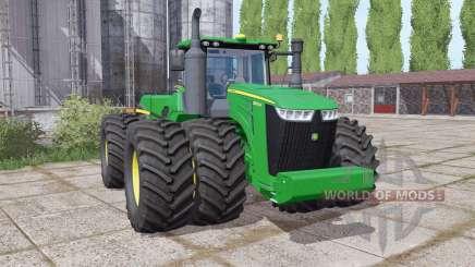 John Deere 9520R twin wheels для Farming Simulator 2017