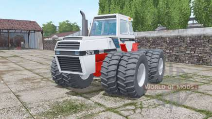 Case 2870 Traction King twin wheels для Farming Simulator 2017