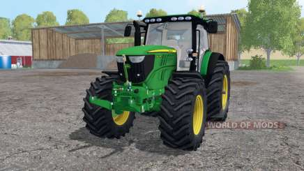 John Deere 6210R lime green для Farming Simulator 2015