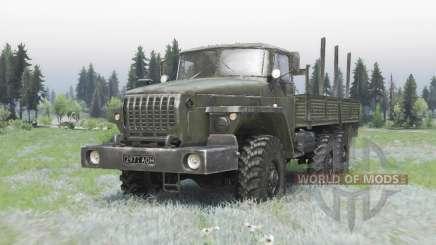 Урал 4320-41 тёмно-серо-зелёный для Spin Tires