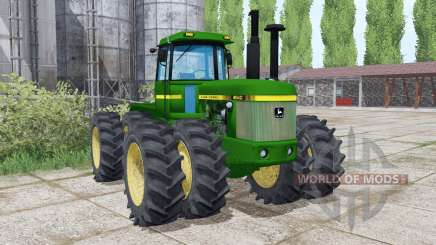 John Deere 8640 twin wheels для Farming Simulator 2017
