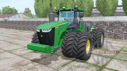 John Deere 9620R twin wheels для Farming Simulator 2017
