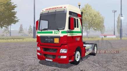 MAN TGX 4x4 Van den Bosch v2.0 для Farming Simulator 2013