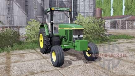 John Deere 7800 duаl rear для Farming Simulator 2017