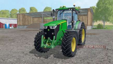 John Deere 7280R twin wheels для Farming Simulator 2015