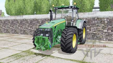 John Deere 8245R 2009 twin wheels для Farming Simulator 2017