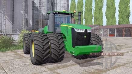 John Deere 9570R twin wheels для Farming Simulator 2017