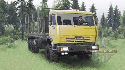 КамАЗ 65111 умеренно-желтый для Spin Tires
