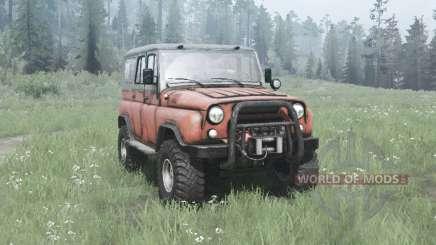 УАЗ 31514 1993 по бездорожью для MudRunner