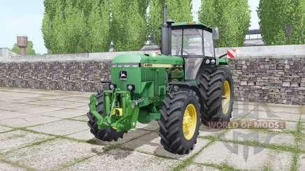 John Deere 4955 twin wheels для Farming Simulator 2017