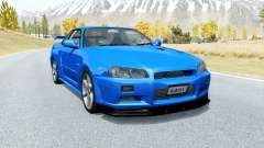 Nissan Skyline GT-R V-spec II (BNR34) 2000 для BeamNG Drive