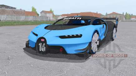 Bugatti Chiron Vision Gran Turismo 2015 для Farming Simulator 2017