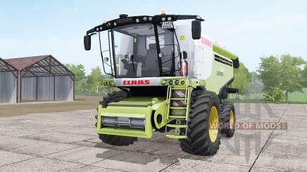 Claas Lexion 780 yellow-green with headers для Farming Simulator 2017