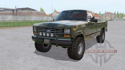 Ford F-150 4x4 Ranger camo 1982 для Farming Simulator 2017