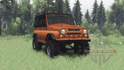 УАЗ 469 оранжевый v1.1 для Spin Tires