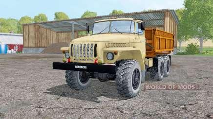 Урал 5557 светло-серовато-жёлтый для Farming Simulator 2015