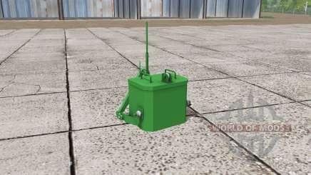 John Deere self made weight для Farming Simulator 2017