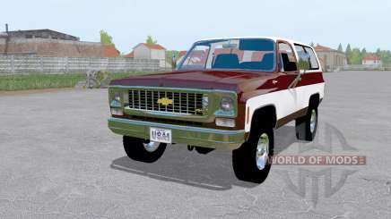 Chevrolet K5 Blazer 1973 dark desaturated pink для Farming Simulator 2017