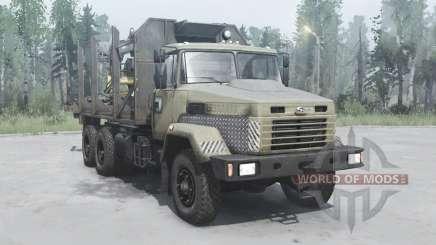 КрАЗ 6322 тёмно-серо-жёлтый для MudRunner