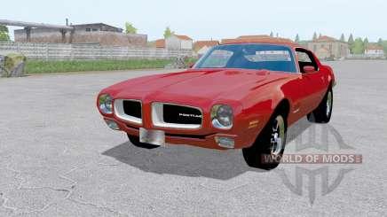 Pontiac Firebird (228-87) 1970 red для Farming Simulator 2017