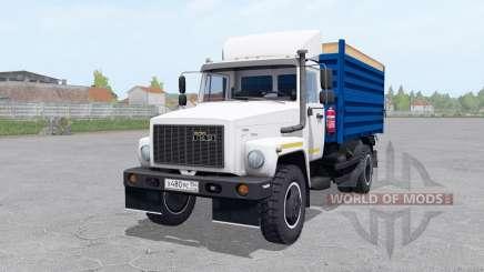 ГАЗ САЗ 35071 с прицепом САЗ 83173 для Farming Simulator 2017