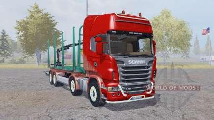 Scania R730 V8 Topline 8x8 Timber Truck для Farming Simulator 2013
