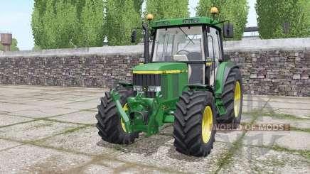 John Deere 6410 wheels selection для Farming Simulator 2017