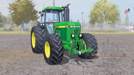 John Deere 4455 double wheels для Farming Simulator 2013