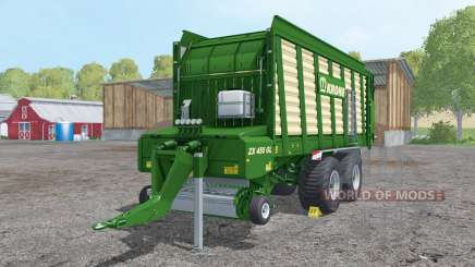 Krone ZX 450 GL doubled collecting speed для Farming Simulator 2015