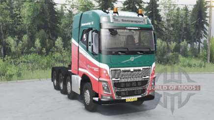Volvo FH16 750 8x4 tractor Globetrotter cab для Spin Tires