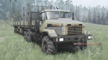 КрАЗ 6322 тёмно-серо-жёлтый v2.0 для MudRunner