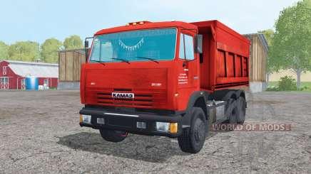 КамАЗ 65115-049-62 с прицепом для Farming Simulator 2015