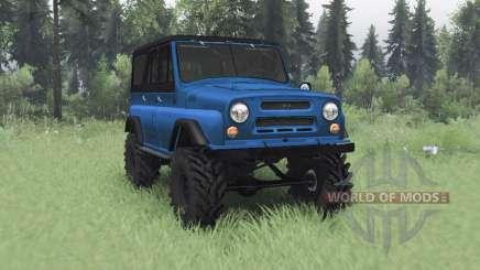 УАЗ 469 синий v1.1 для Spin Tires