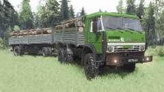 КамАЗ 5350 зелёный для Spin Tires