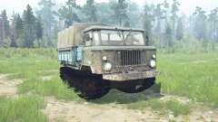 ГАЗ 66 гусеничный для MudRunner