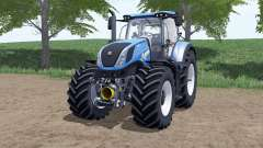 New Holland T7.290 Heavy Dutƴ для Farming Simulator 2017
