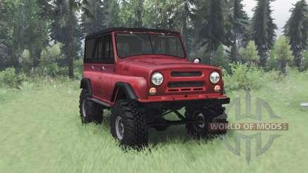 УАЗ 469 красный v1.2 для Spin Tires