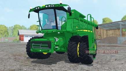 John Deere S680 dual front wheels для Farming Simulator 2015