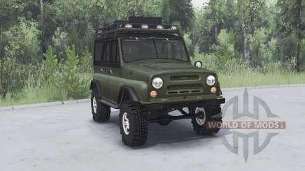 УАЗ 469 хаки v1.2 для Spin Tires