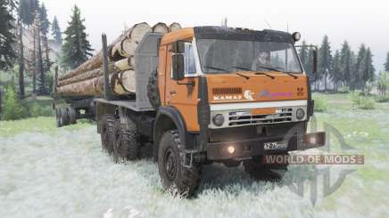 КамАЗ 5350 умеренно-оранжевый для Spin Tires