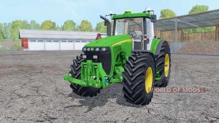 John Deere 8520 working mirrors для Farming Simulator 2015