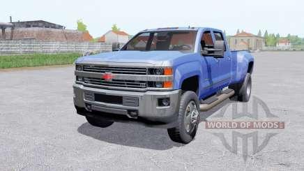 Chevrolet Silverado 3500 HD Crew Caɓ для Farming Simulator 2017
