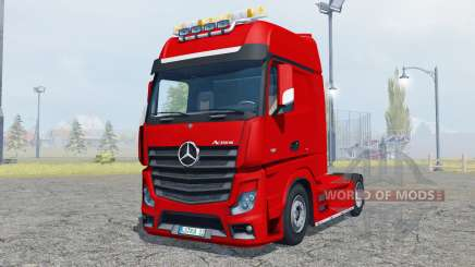 Mercedes-Benz Actros (MP4) flashing light beacon для Farming Simulator 2013