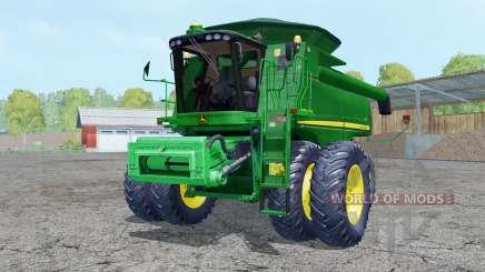 John Deere 9770 STS dual front wheels для Farming Simulator 2015