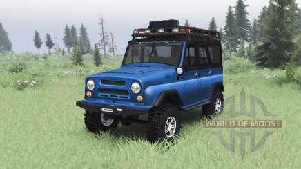 УАЗ 469 синий v1.2 для Spin Tires