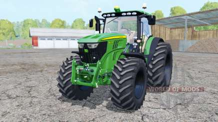 John Deere 6210R front loader для Farming Simulator 2015