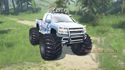 Chevrolet Colorado Extended Cab monster truck для MudRunner