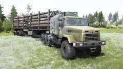 КрАЗ-7140Н6 состаренная кабина для MudRunner