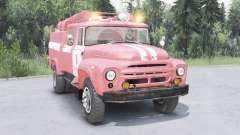 ЗиЛ-130 АЦ-40 мягко-красный окрас для Spin Tires