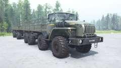 Урал 6614 серо-салатовый окрас для MudRunner